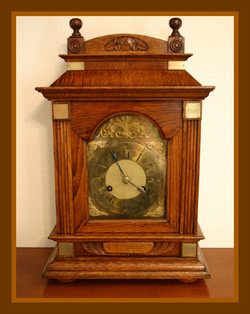 German - Art Deco - Oak - 8 day Shelf Clock