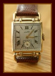 Latham - Drivers Style Horned Lugs - Roman Numerals - 7 Jewel Swiss Made Tank Wristwatch - (circa 1940s)