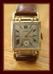 Latham - Drivers Style Horned Lugs - Roman Numerals - 7 Jewel Swiss Made Tank Wristwatch - (circa 1940s)