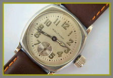 Waltham - Three Piece Silver Toned Case with a Silver Satin Dial and a Sunken Seconds Sub-Dial in Excellent Condition (circa 1918)