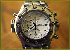 Seiko - Premier - 7T27-6A10 - 22K Solid Gold Bezel - Limited Edition of 2000 - Wristwatch - (circa 1991)