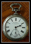 Doxa - 22 Size - Huge Coaches Watch - Ornate Open Face Case – Pocket Watch - (circa 1940s)