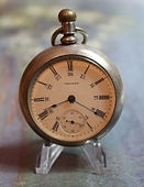 American Waltham - Coin Silver Open Face Case - 18 Size - 15j - Pocket Watch - (circa 1913)