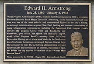 Edward H. Armstrong Monument plaque - fr