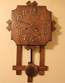 Gilbert - Solid Oak - Mission Style Wall Clock - (circa 1907)
