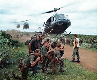 Helicopter operations with U.S. solgiers during the Vietnam War