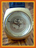 Jostens - 17 Jewel High Grade Automatic Movement and a World Globe Dial Wristwatch - (circa 1980s)