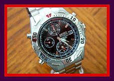 Seiko - 7T32-7F89 - Chronograph - Stainless Steel Pilot Wristwatch - (circa 1999)