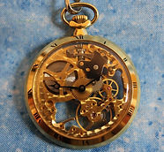 Colibri - Swiss - 16 Size - Gold Plated Skeleton (Front and Back) Case - 17 Jewels – Pocket Watch - (circa 1980s)