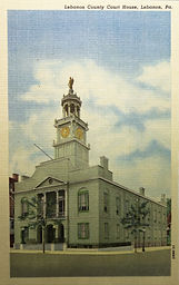 Figure 1 – The Lebanon County Courthouse in its heyday - postcard ca. 1925. (Randy Jaye co