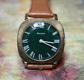 Bulova - Green Sparkling Dial - 17 Jewel Mechanical Movement Wristwatch - (circa 1970)