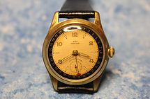E.B.P. - German Made - Calendar with Outstanding Copper Dial - Mechanical Wind Movement wristwatch - (circa 1940s)
