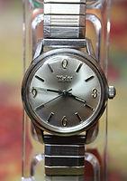 Wyler - Incaflex - 1970 1-1162 - One Piece Stainless Steel Case - 17 Jewel Mechanical Movement Wristwatch - (circa 1960s)