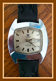 Tissot - Scarce Autolub with Plastic Gears, Day and Date Feature, with Batman Inspired Lugs - Wristwatch - (circa 1970s)