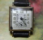 F. Matter - Swiss Art Deco Dial - 6 Jewels and 2 Adjustments Mechanical Movement - (circa 1920s)