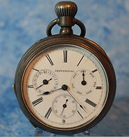 Centennial - 18 Size - 3 Sub-Dial Calendar Open Face - Nickel Case with Full Jewels – Pocket Watch - (circa 1920s)