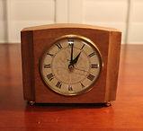 Westclox - Solid Mahogany Wood Electric  Alarm Clock - (circa 1960s)