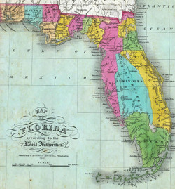 Florida with Mosquito County - ca 1830