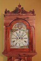 Custom 100% Red Cedar Wood Tall Case Clock - with Custom Hand Painted Dial -Lebanon County, Pennsylvania Theme