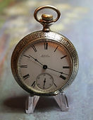 American Waltham - Fancy Silveroid Open Face Case - 18 Size - 7j - Stem Wind and Set - Pocket Watch - (Circa 1902)