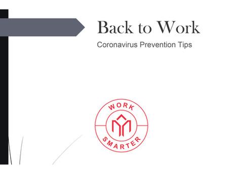Back to Work: Coronavirus Prevention Tips