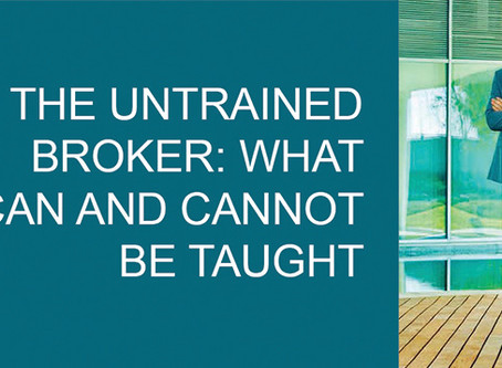 The Untrained Broker: What Can and Cannot Be Taught