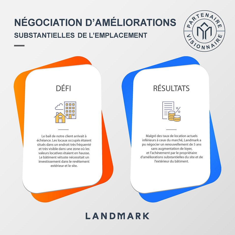 Negociation dameliorations substantielle