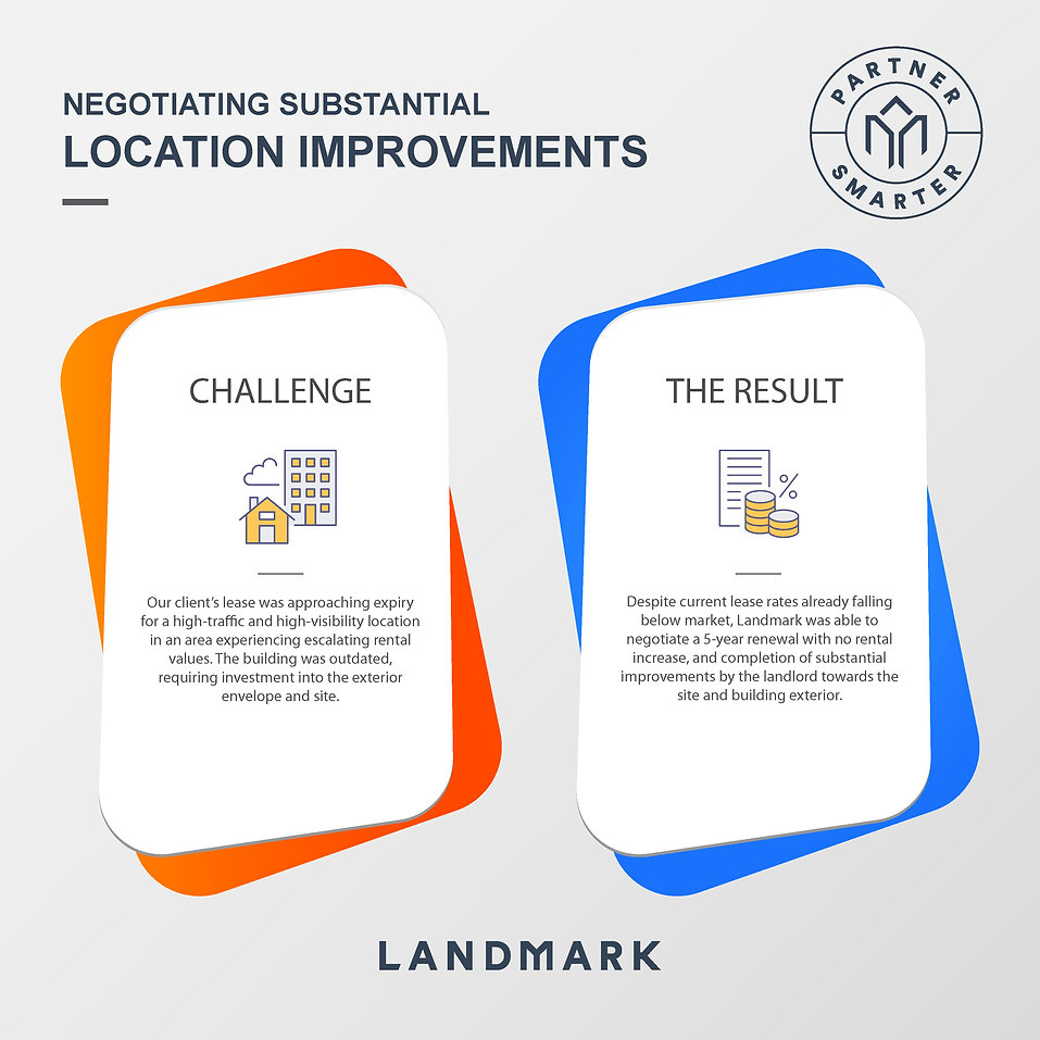 Negotiating substantial location improve