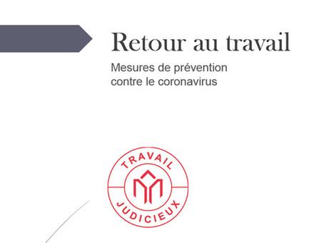 Retour au travail : Mesures de prévention contre le coronavirus