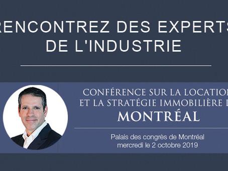 Robert Cressaty anime la séance sur l'immobilier industriel à la conférence de Montréal