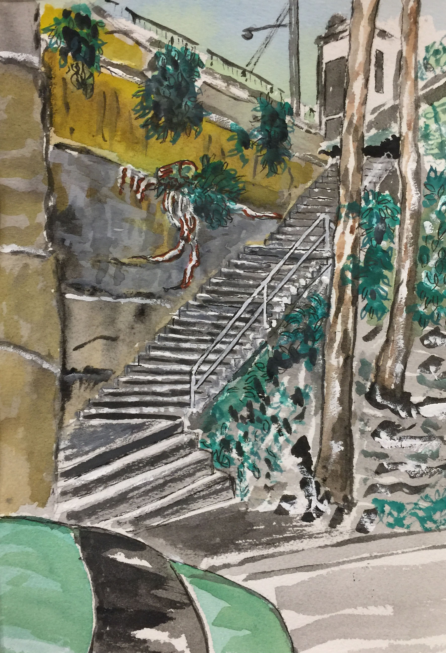 Glebe steps. From Railway St up to Darghan St