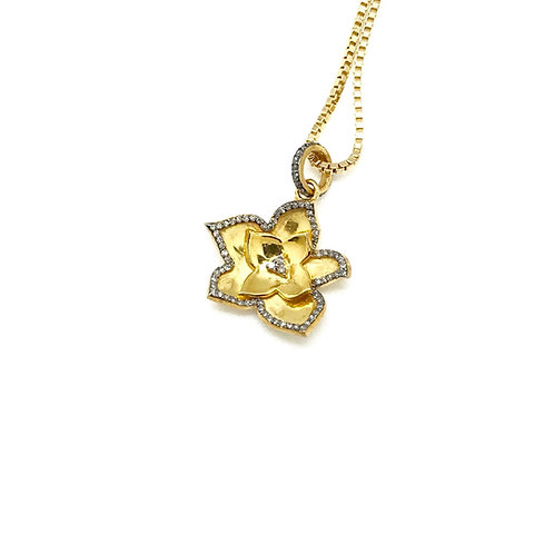 Forget Me Not Flower Charm and Chain