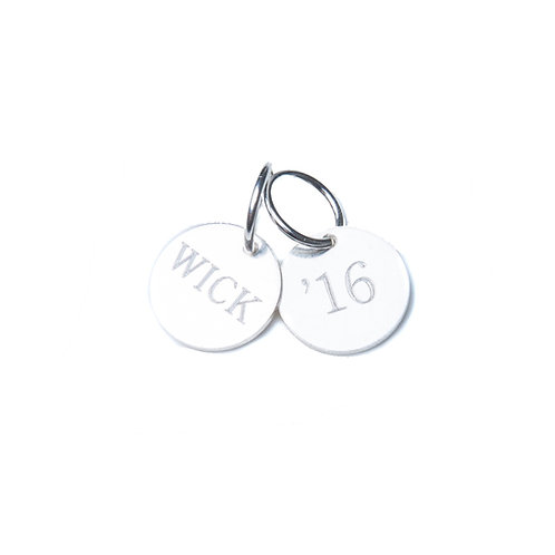Sterling Silver Engraved Disc