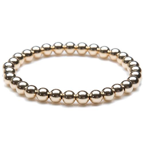 6mm Bead Bracelet - 14kt Gold Filled