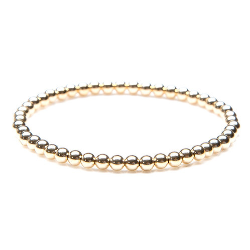 14kt gold filled 4mm bead bracelet