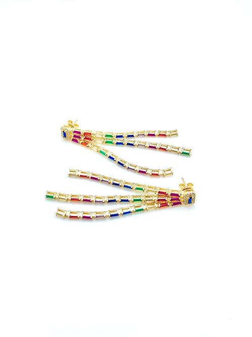 Rainbow Multi-Drop Earrings