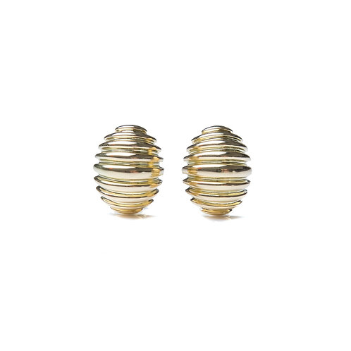18kt Gold Shell Earrings