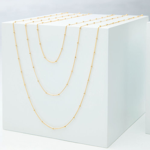 Petite Ball and Chain Necklace