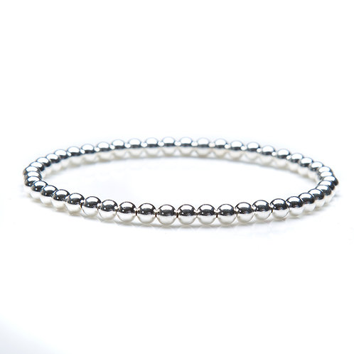 """Sterling silver bead bracelet. 4mm bead, 7"""" size"""