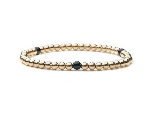 14kt gold filled 4mm bracelet with blue Tigers Eye