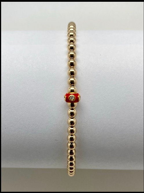 Enamel and Diamond Bracelet