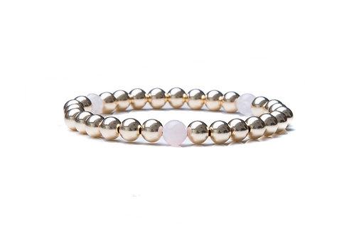 14kt gold filled 6mm bead bracelet with Moonstones