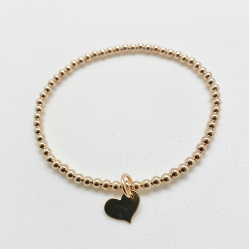 Small Heart 3mm Bracelet