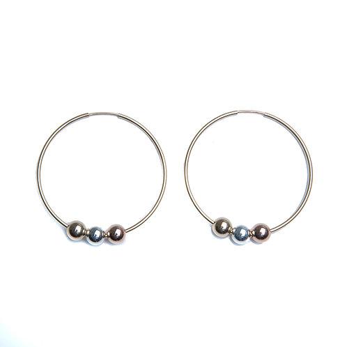 Tri-color Hoop Earring