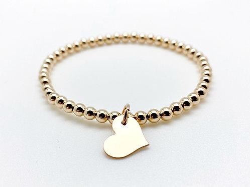 Large Heart Charm Bracelet