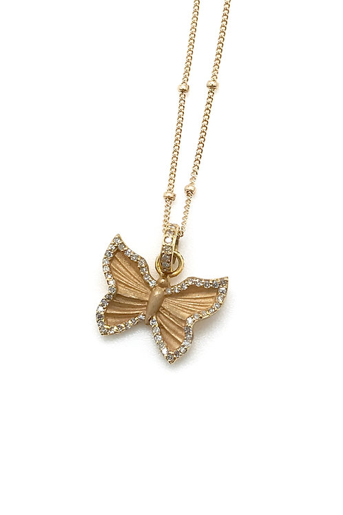Butterfly Charm and Chain