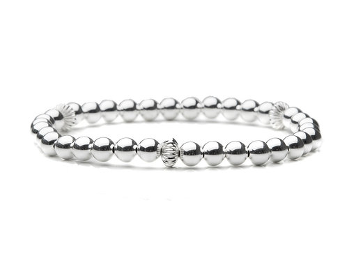 Sterling Silver Bracelet with Fancy Accents