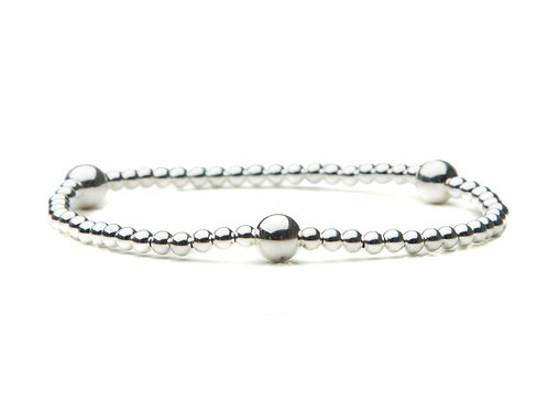 Sterling Silver bracelet with Large Accents