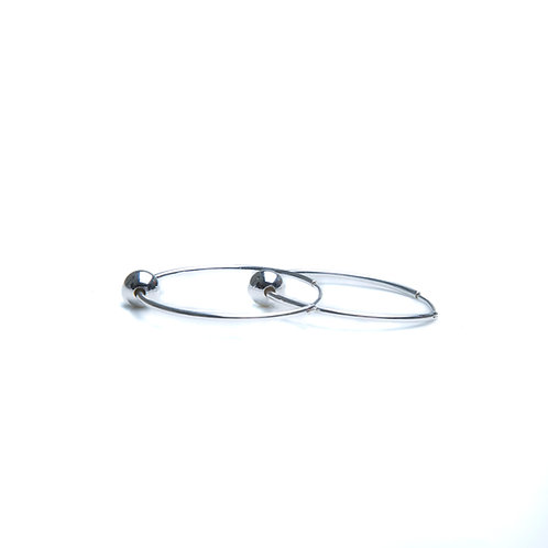 Sterling Silver Hoop with Bead