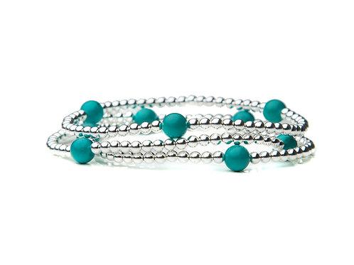 Sterling Silver Turquoise Stack